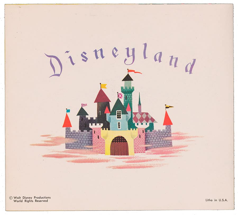 1954 Disneyland Christmas Card