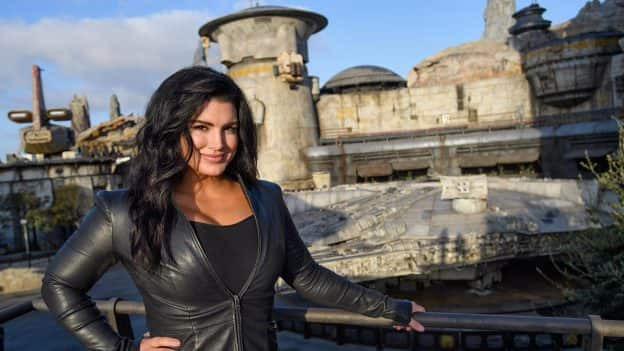 Actress Gina Carano Visits Star Wars: Galaxy's Edge