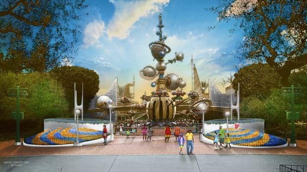 Tomorrowland Entrance Coming Soon to Disneyland Park - rendering