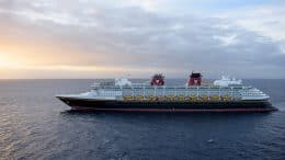 The Disney Wonder at Sea