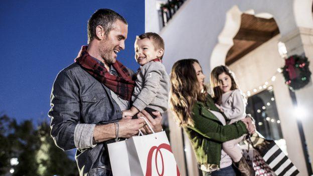 family shopping at Disney Springs