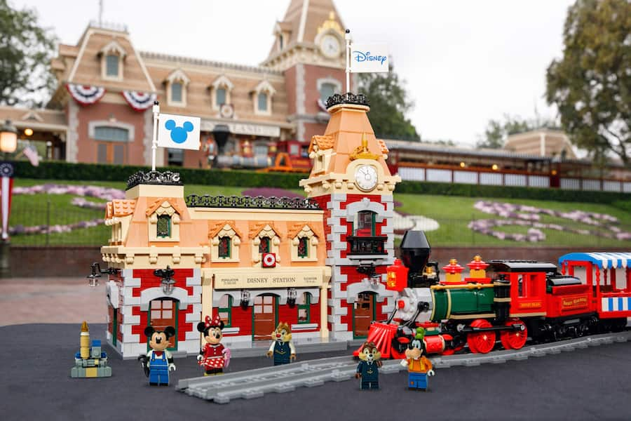 Disney Train and Station Playset by LEGO inspired by the iconic Disney Railroad