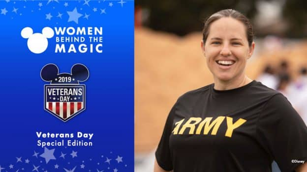 Women Behind the Magic Veteran's Day 2019 Special Edition, featuring a photo of Briana Foster