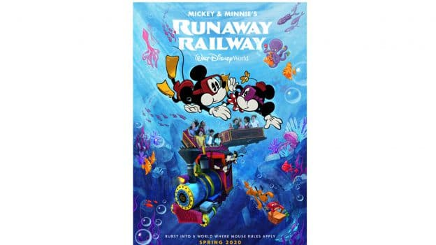 As always, the Mickey and Minnie's romance is off the tracks in their newest collaboration, an all-new innovative ride-through attraction, Mickey & Minnie's Runaway Railway, premiering at Disney's Hollywood Studios in March. © Disney