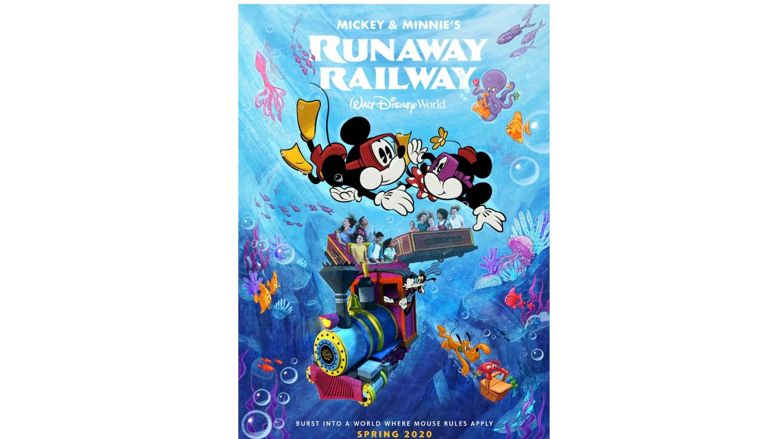 New Poster Unveiled For Mickey Minnie S Runaway Railway Attraction At Disney S Hollywood Studios Disney Parks Blog