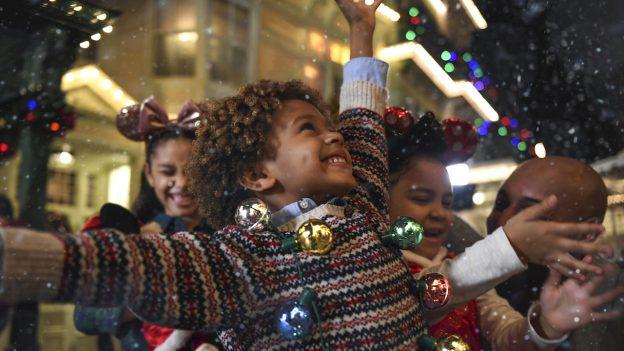 Kids enjoying the holidays at Walt Disney World Resort