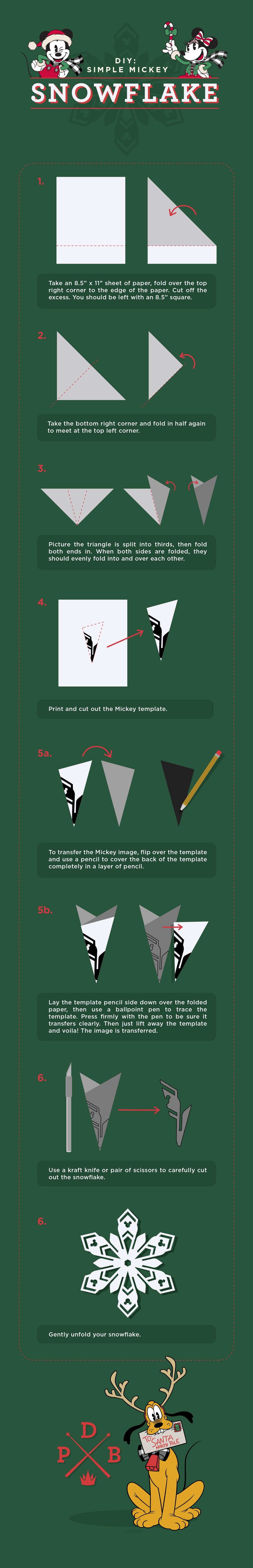 DIY Mickey Snowflake