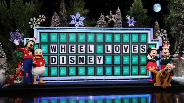 Disney Characters at Wheel of Fortune