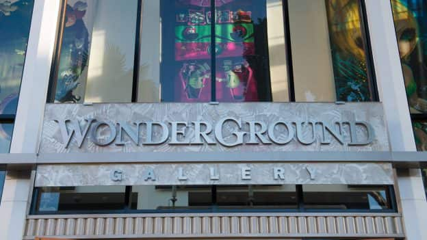 WonderGround Gallery in Downtown Disney District at Disneyland Resort