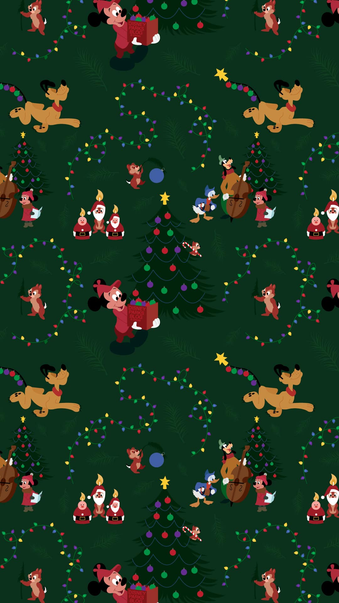 2019 Mickey Mouse & Pluto Christmas Wallpaper – iPhone/Android | Disney  Parks Blog
