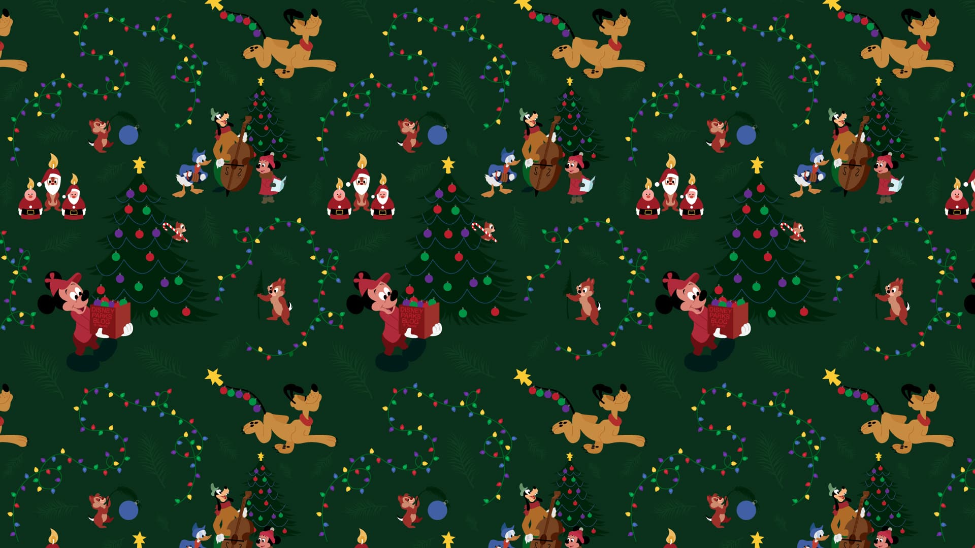 2019 Mickey Mouse Pluto Christmas Wallpaper Desktop Ipad Disney Parks Blog