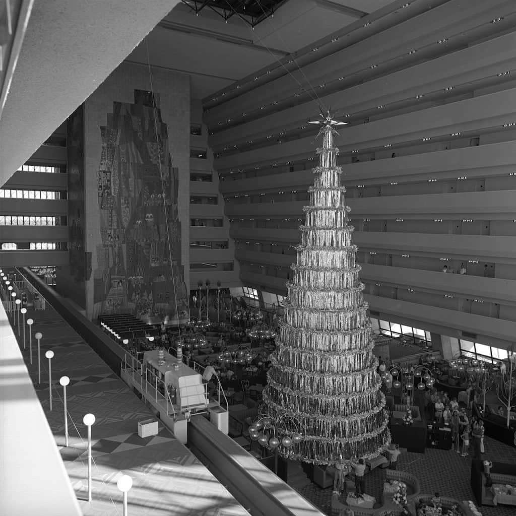 Disney's Contemporary Resort during the holidays
