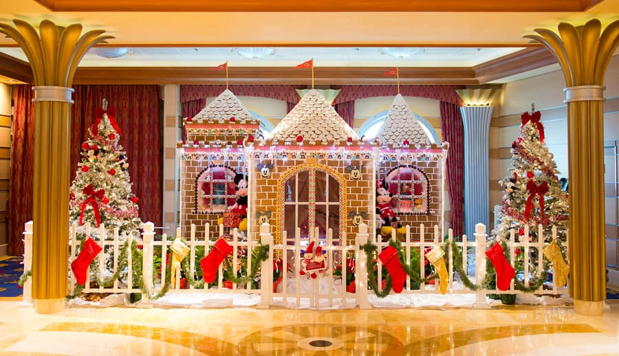 Life-size gingerbread house aboard Disney Cruise Line