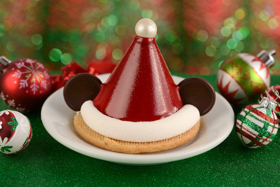 Mickey Santa Hat Chocolate Mousse from ABC Commissary for Holidays 2019 at Disney's Hollywood Studios