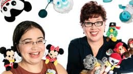 Disney Parks Wishables merchandising manager Julie Young and character artist Maria Stuckey