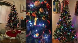 Collage of Disney Parks LIVE Viewers Share Their Disney Parks-Inspired Christmas Trees