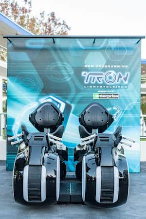TRON Lightcycles Now On Display at Magic Kingdom Park
