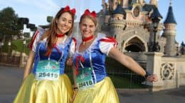 Girls running at Disneyland Paris