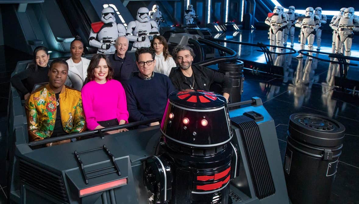 """The Cast of """"Star Wars: The Rise of Skywalker"""" Previews New Disney Parks Star Wars Attraction"""