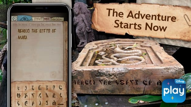 'Indiana Jones Adventure – The Gifts of Mara' Experience on the Play Disney Parks App at Disneyland Resort