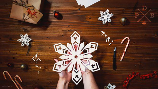 DIY Mickey Snowflakes