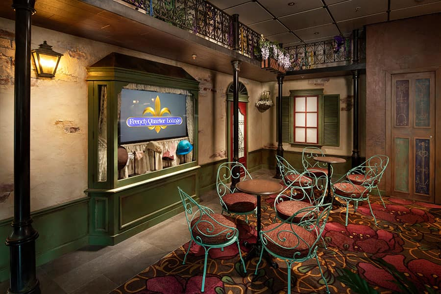 New Orleans-themed lounge on the Disney Wonder