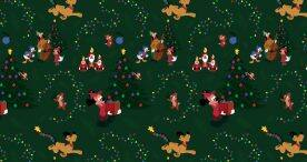 Mickey Mouse & Pluto 2019 Christmas Wallpaper