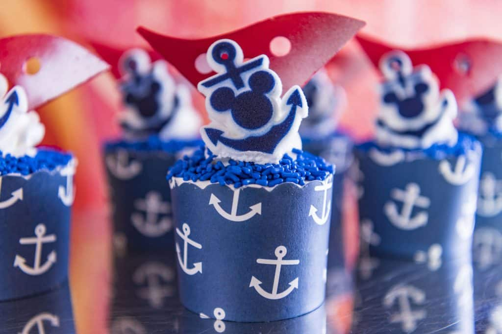 Nautical Navy cupcake