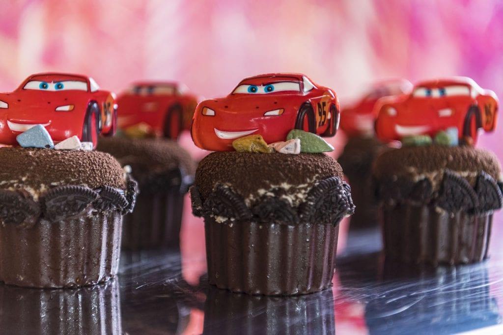 Lightning McQueen cupcake