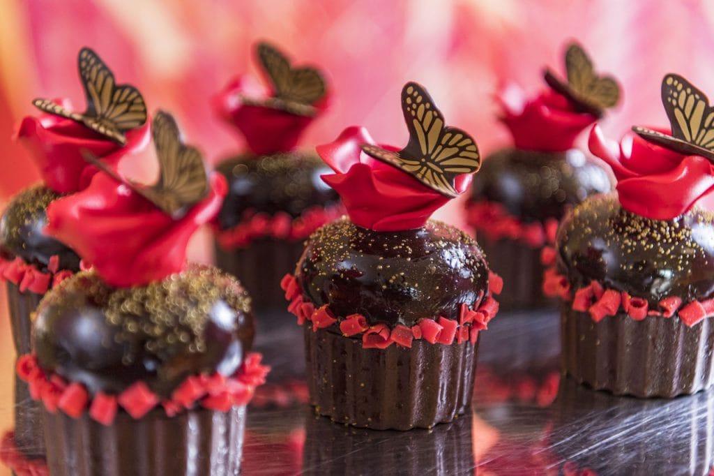 decadent rose cupcake