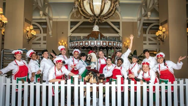 Gingerbread house cast from Disney's Beach Club Resort