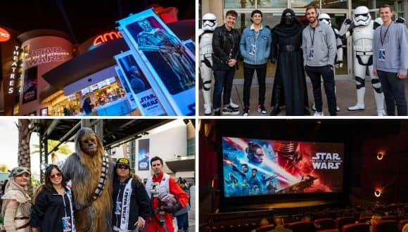 Collage of Photos from Disney Parks Blog Star Wars: The Rise of Skywalker Meet-up at Disney Springs
