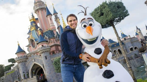 Spanish Tennis Champion Rafael Nadal at Disneyland Paris