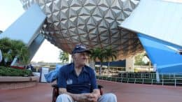 Stephen Nemeth, a World War II Navy Seaman First-Class, at Epcot