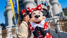 Drew Barrymore and Minnie Mouse at Walt Disney World Resort