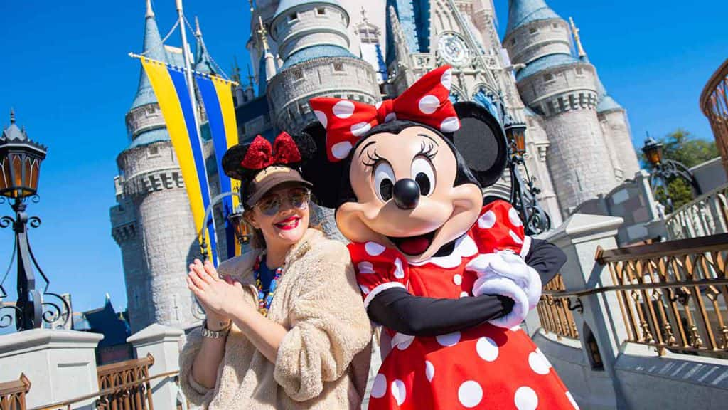 Drew Barrymore and Minnie Mouse