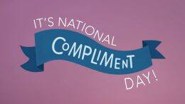 It's National Compliment Day!