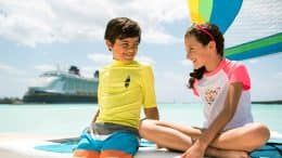Boy and Girl at Castaway Cay