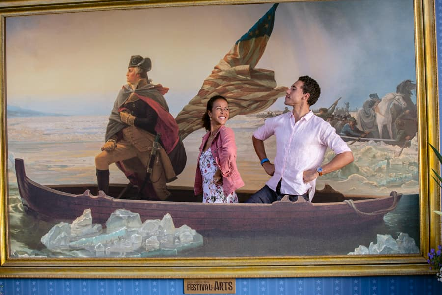 Epcot International Festival of the Arts Photo Op: American Adventure Pavilion:  Washington Crossing the Delaware – Emanuel Gottlieb Leutze