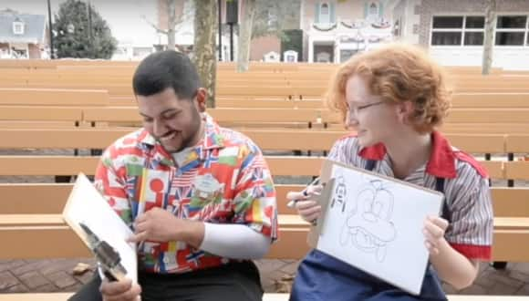 Quick-Draw Challenge with Epcot cast members