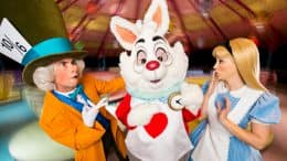 Alice, the White Rabbit and the Mad Hatter
