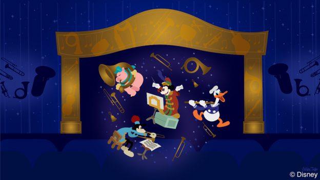 Bandleader Mickey Listens to Tunes at Mickey's Philharmagic