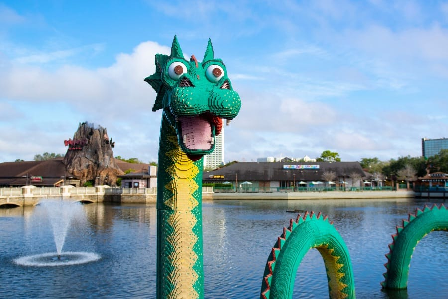 Brickley the sea serpent at Disney Springs