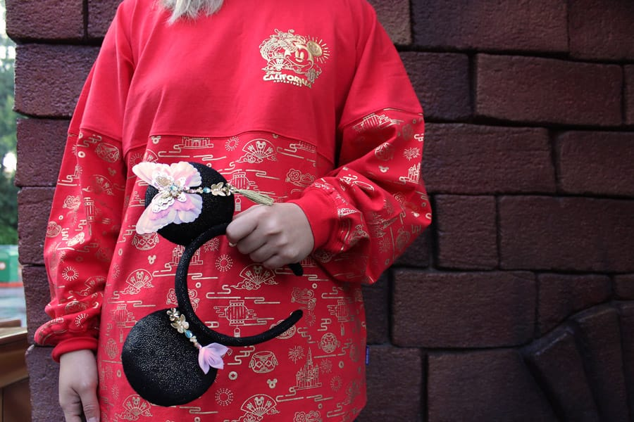 Lunar New Year Spirit Jersey and Minnie Mouse ear headband