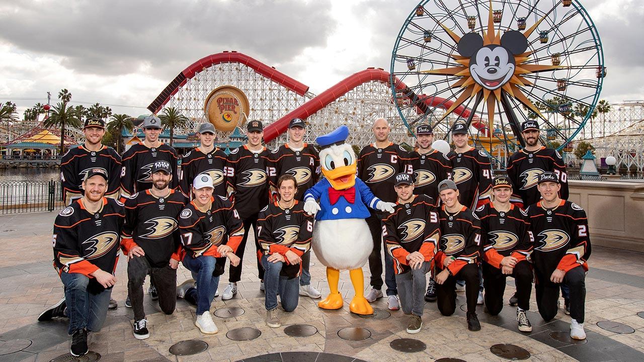 Disney and Anaheim Ducks Fans United at Anaheim Ducks Day at Disney California Adventure Park thumbnail