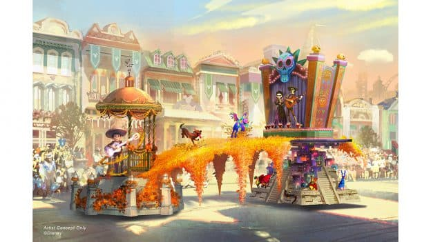 'Magic Happens' Parade float rendering - Coco