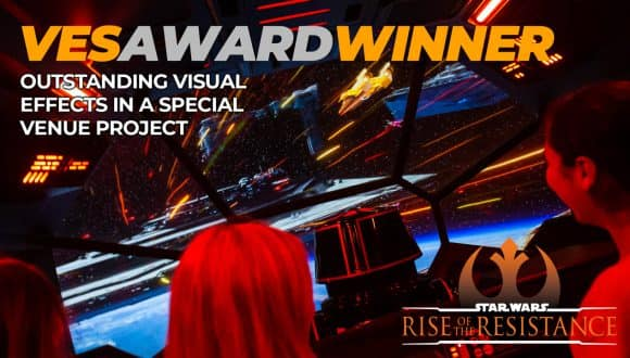 VES AWARD WINNER: Outstanding visual effects in a special venue project - Star Wars: Rise of the Resistance