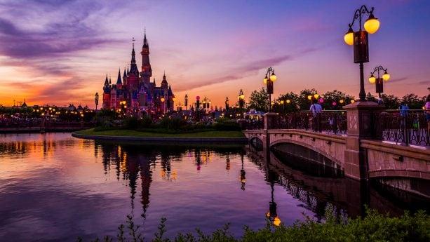 Disney Parks After Dark: Shanghai Disneyland at Sunset