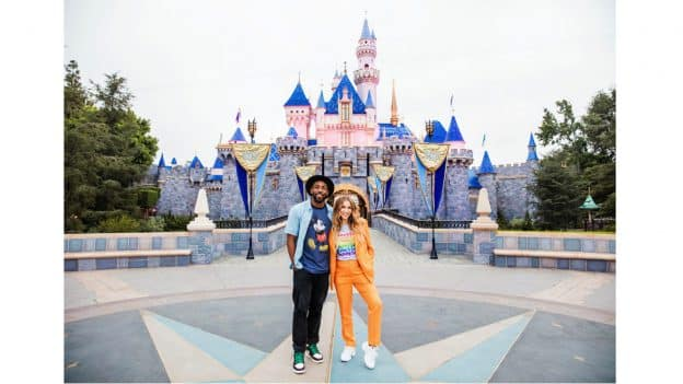"Stephen ""tWitch"" Boss and Allison Holker at Disneyland Resort"