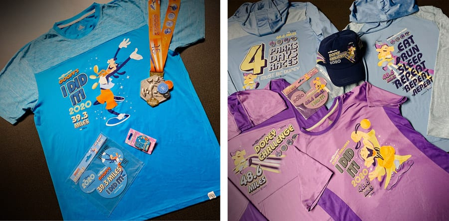 Collage of 2020 Walt Disney World Marathon Weekend Merchandise
